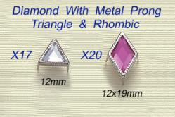 Diamond With Metal Prong