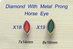 Diamond With Metal Prong-Horse Eye