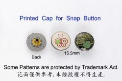Printed Cap for Snap Button