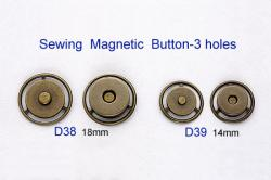 Sewing Magnetic Button-3 holes