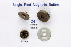 Single Post Magnetic Button