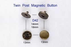 Twin Post Magnetic Button